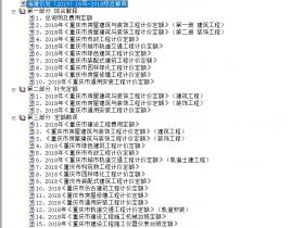 重庆市2018定额相关文件及勘误