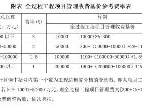 重磅!深圳发布全过程工程咨询服务计费方法!