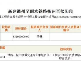 全国首例!全过程工程咨询服务中标价5.3亿