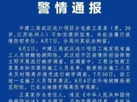 未如实提供信息,武汉疫情工地分包商被拘留!