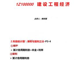 2021一建经济梅世强【93必考点+30个公式总结】