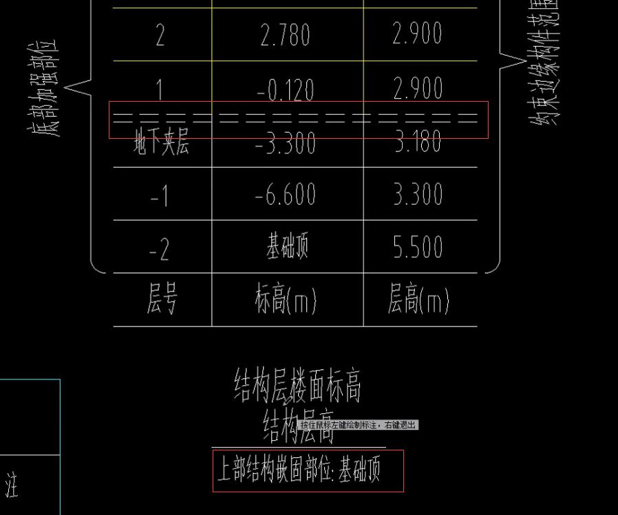 楼层表中的嵌固部位是什么意思?
