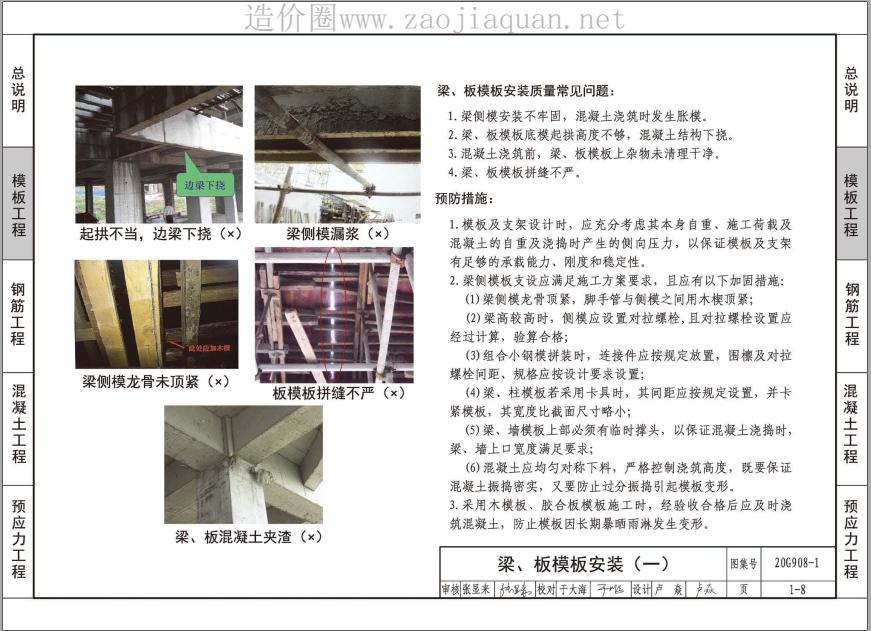 20G908-1建筑工程施工质量常见问题预防措施(混凝土结构工程)