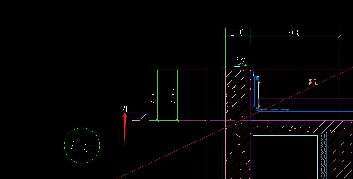 图纸中RF代表什么意思